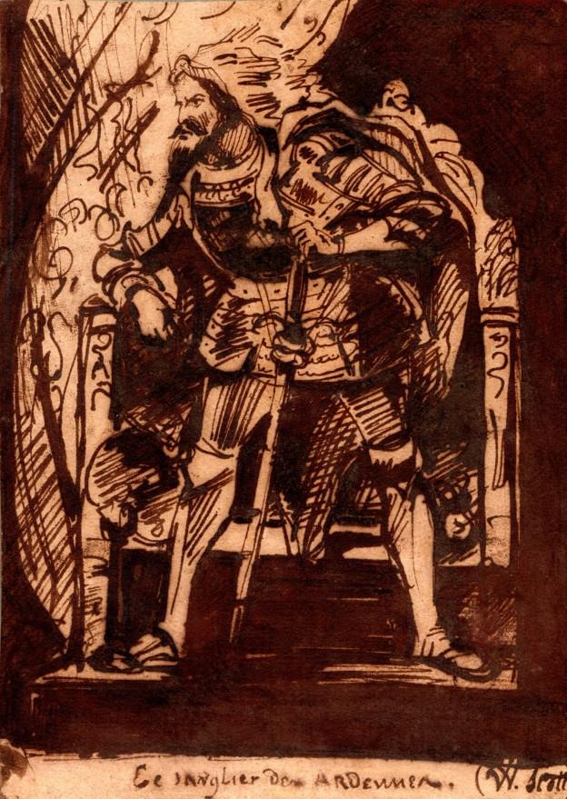 20 Delacroix Sanglier des Ardennes 15 x 10,5