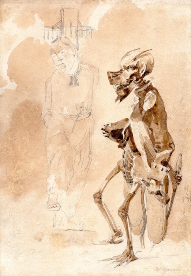 25 Henri Monnier pretre et demon 29x20cm