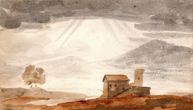 4 Baron Gerard aquarelle 11 x 18,5 cm
