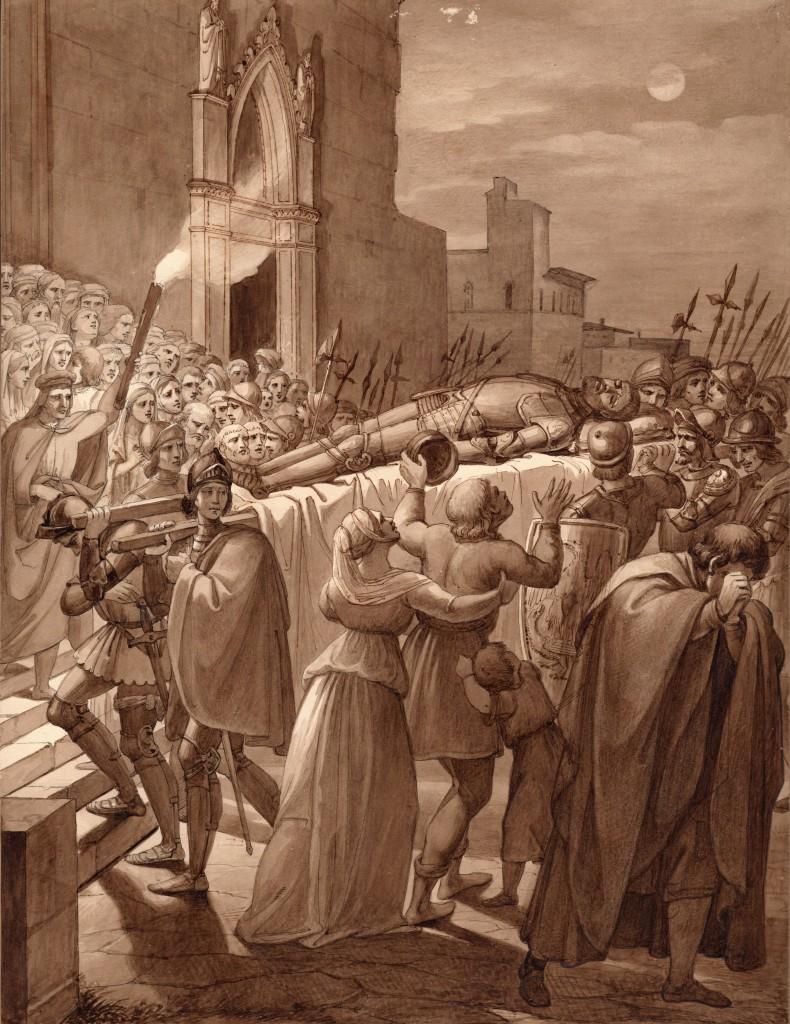 Benivello Funerale di Rustico Marignolli 38 x 26 cm (Copier)