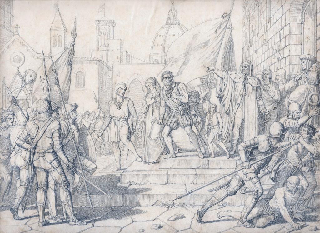 Calamai Cacciata del Duca d'Atene 27 x 37 cm (Copier)
