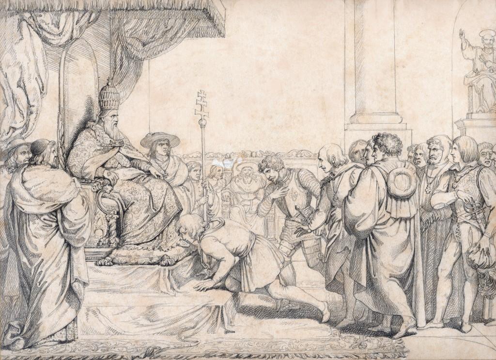 Calamai XII Fiorentini ambasciadori a Bonifazio VIII 27 x 37 cm copie