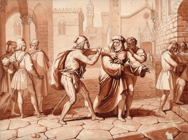 Garibbo Giano della Bella insultato dal Frescobaldi 27 x 36 cm (Copier)