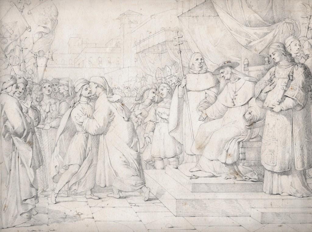 Gazzarrini Pacificazione de Guelfe e Ghibellini 27 x 36 cm copie (Copier)