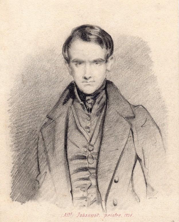 Gigoux Portrait de Johannot 11x16