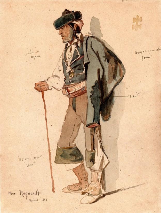 Henri Regnault Madrilene 30 x 23 cm