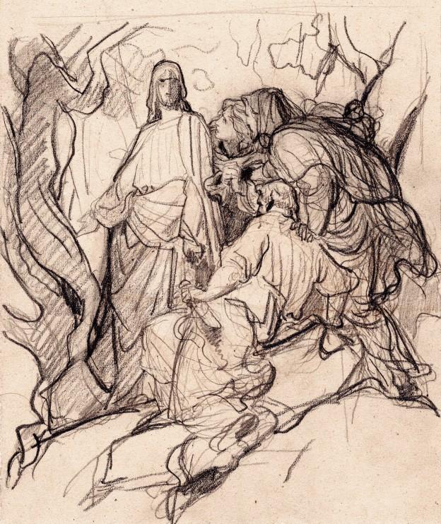 Jalabert Christ 21,5x18 copie