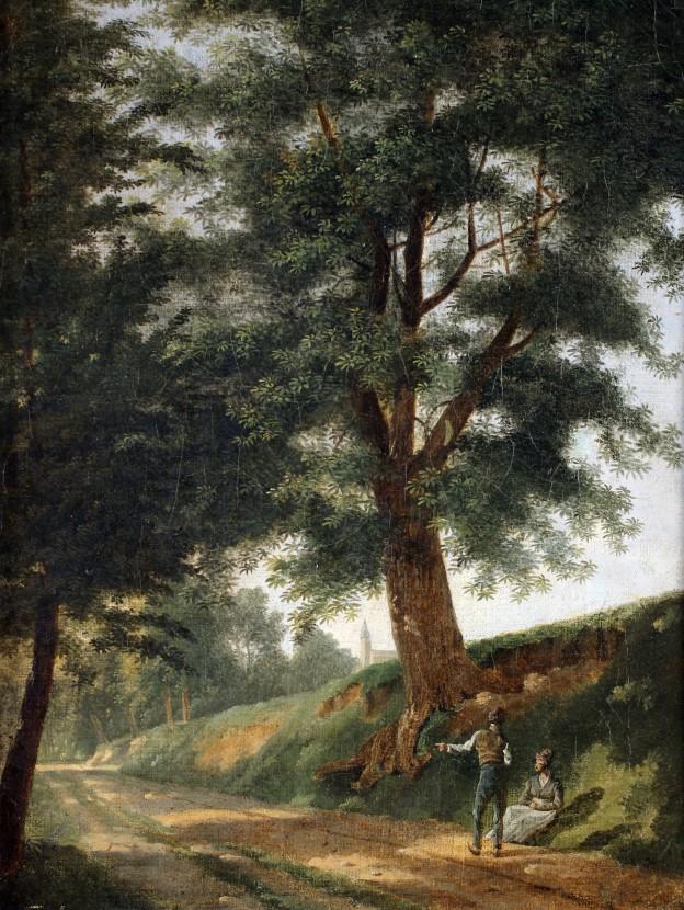 Jean Vasserot Couplle sur un chemin