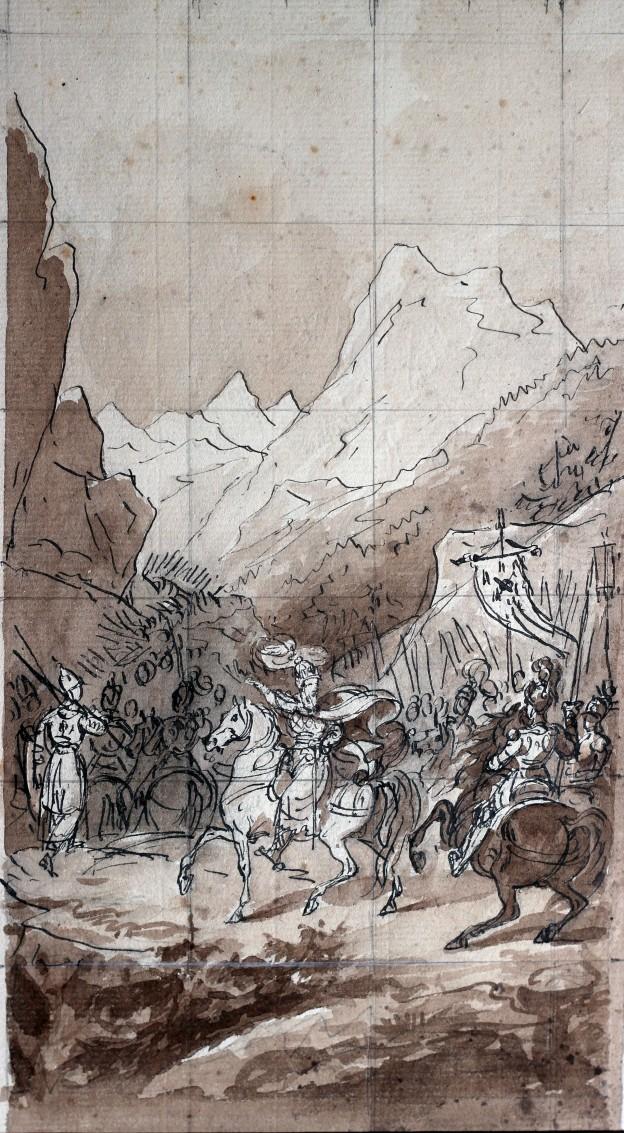 Lecomte Charlemagne passe les Alpes