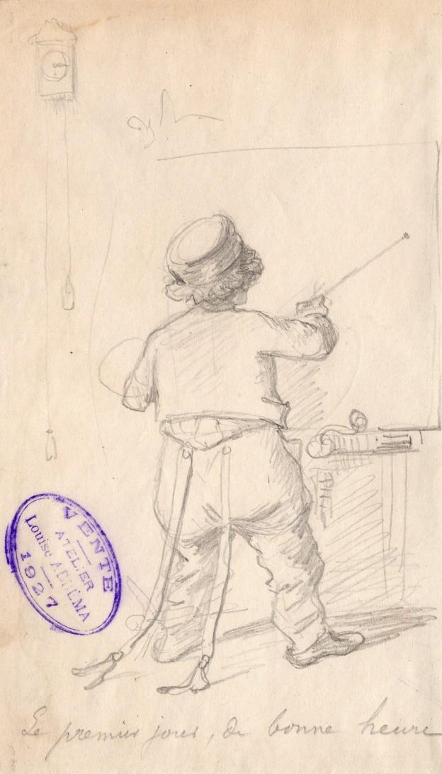 Louis Abbema dans l'atelier 19 x 11 cm