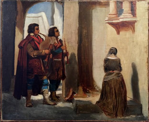 Papety prière à la madonne