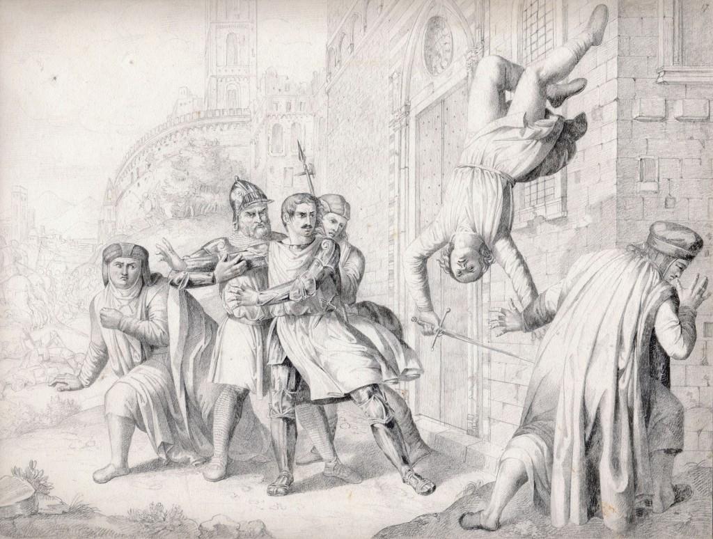 Pieraccini Morte del Figlio di Farinata degli Uberti 27,5 x 36,5 cm (Copier)