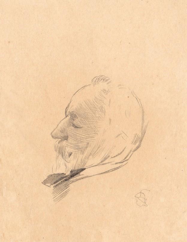 Portrait de Puvis de Chavannes par Detaille corrigé